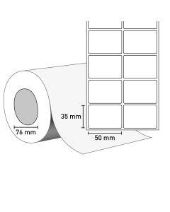 Bild TT Klebeetiketten auf Rolle 50x32 mm, 76 mm Kern