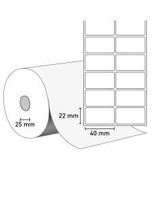 Bild TT Klebeetiketten auf Rolle 40x22 mm, 2-bahnig, 25 mm Kern