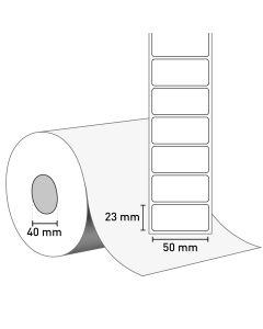 Bild TT Klebeetiketten auf Rolle, Vellum, 50x23 mm, 40 mm Kern
