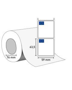 1402-0166 Etiketten auf Rolle 59x63,5/76 mm
