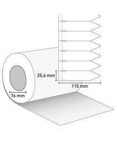 Bild Stecketikett 115x25,4 PVC weiß mit Preisabriss
