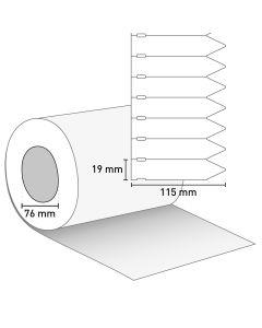Bild Stecketikett 115x19,05- PVC weiß ohne Preisabriss