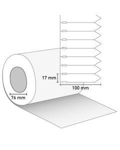 Bild Stecketikett 100x17 PVC weiß ohne Preisabriss