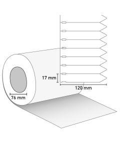 Bild Stecketikett 120x17 PVC weiß ohne Preisabriss