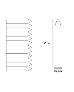 Bild Laserstecketiketten matt 24x140mm