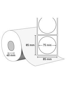 Etiketten auf Rolle 85 x 85 mm (75 mm rund)