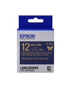 Epson Etikettenkassette gold auf navyblau