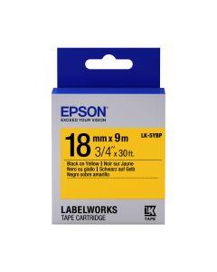 Epson Etikettenkassette pastell, schwarz auf gelb