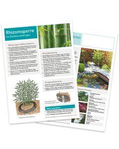Infoblatt Japanische Gärten Vorder- und Rückseite