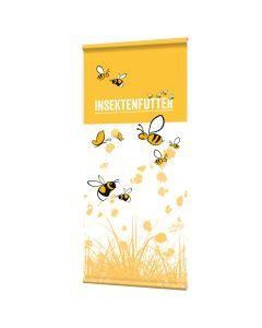 """Banner """"Insektenfutter"""" mit Hohlsaum"""