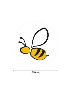 Bild Haftetiketten auf Rolle 'Biene' 35 mm rund