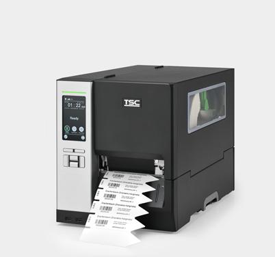 Thermotransfer-Etikettendrucker mit Stecketiketten