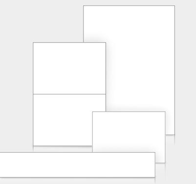 Blanko-Schildblätter in vielen Formaten