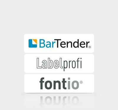 Etiketten nach Software