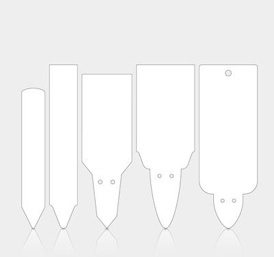 Weiße Stecketiketten in vielen Größen