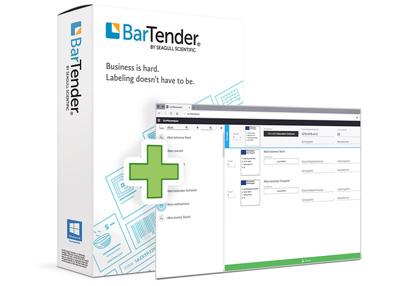 Etiketten-Software Bartender plus Screenshot aus Pflanzendatenbank von Güse für den Pflanzenpass-Druck