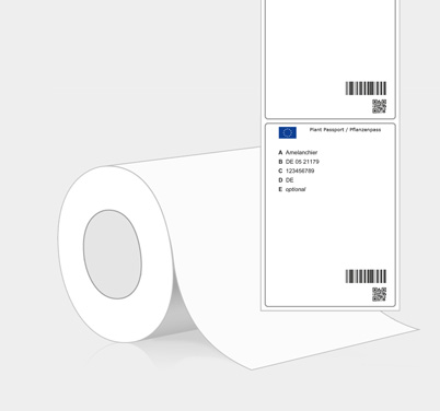 Plant Passport-Adhesive labels